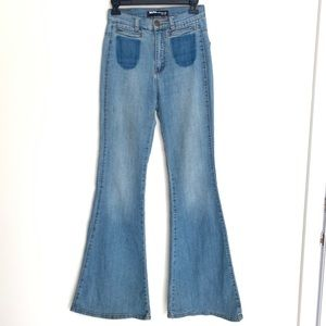 BDG high rise flare jeans size
